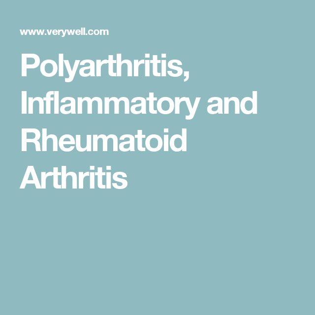 Polyarthritis, Inflammatory and Rheumatoid Arthritis