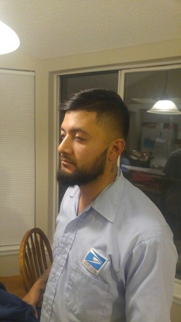 Low fade comb over and line up