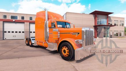 Orange skin for the truck Peterbilt 389 for American Truck Simulator #EverythingOrange