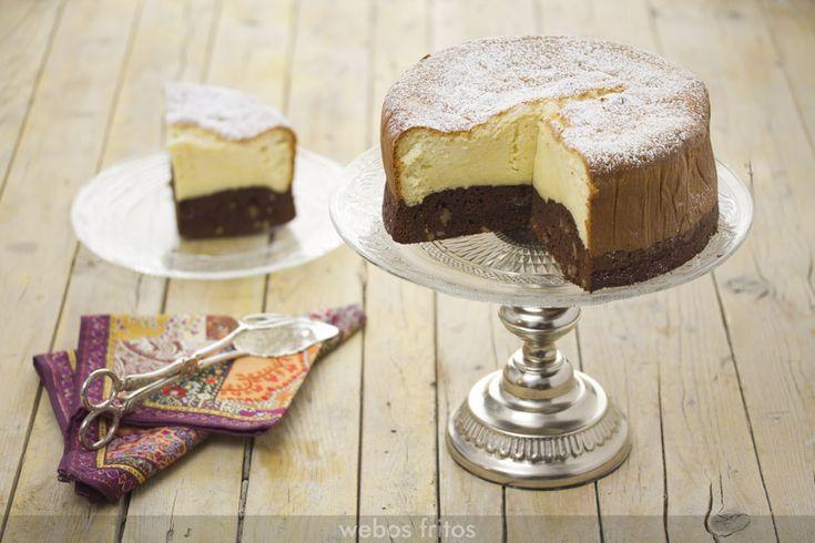 Me encanta este brownie cheesecake: es una manera diferente de presentar dos recetazas juntas. Si te apetece hacerlo sigue las instrucciones.