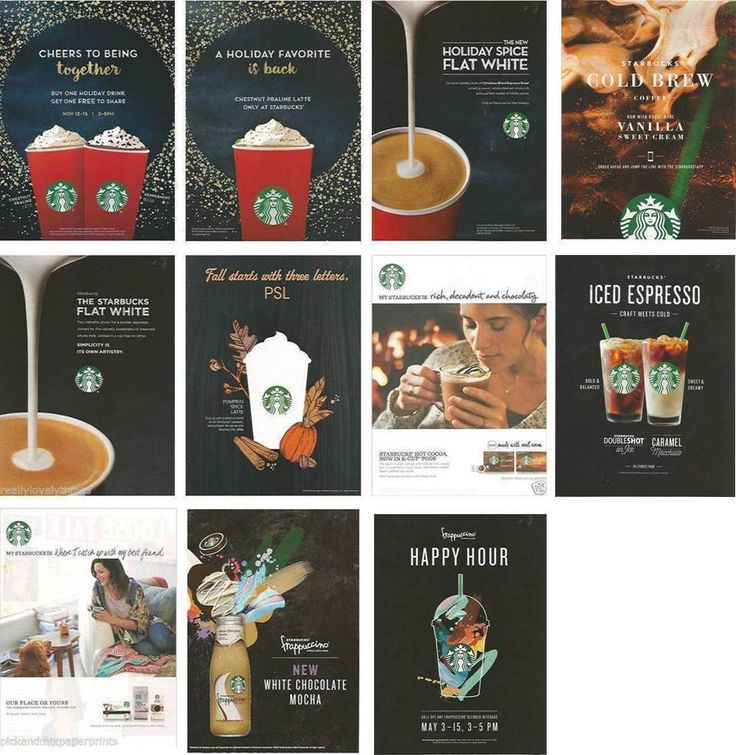 advertising and promotions for starbucks Integrated marketing communications - starbucks  communication media and promotion, marketing communication does not just primarily focus on advertising and.