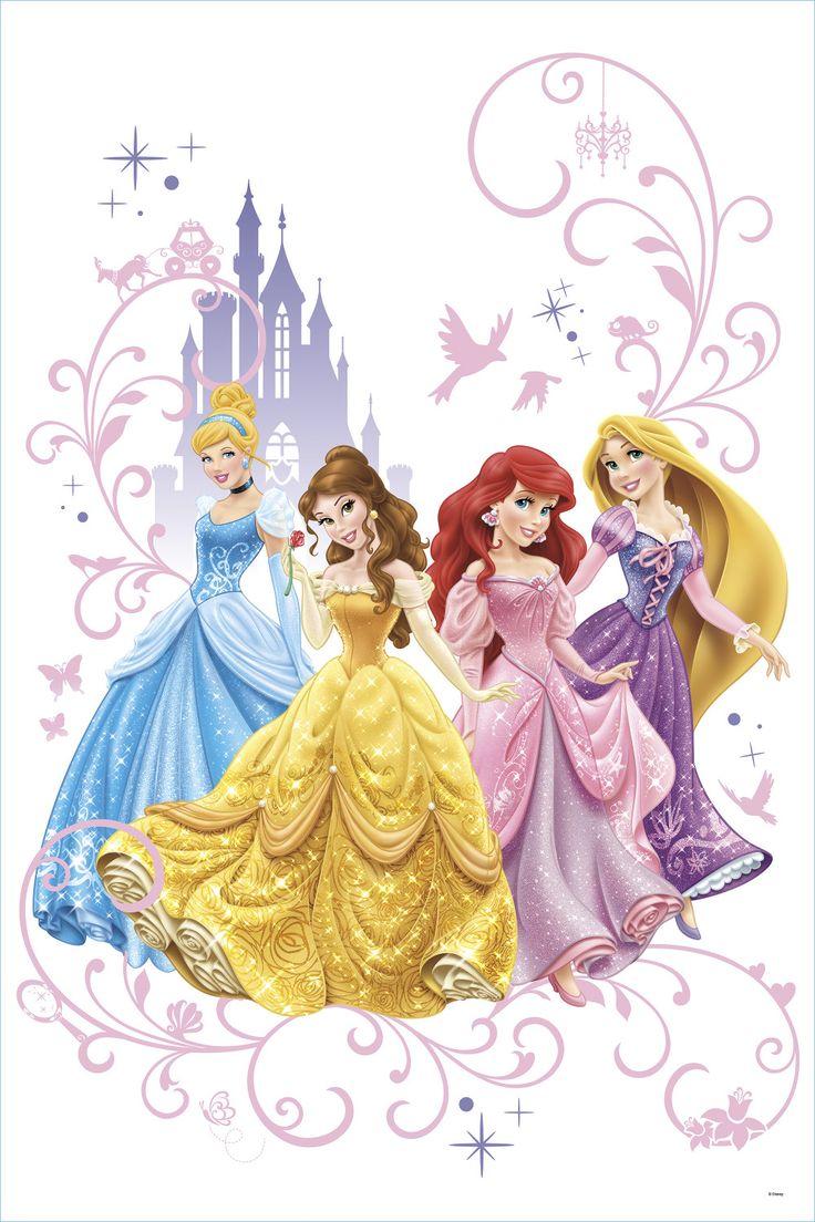 28 best disney princess printesele disney images on for Disney princess wall mural stickers