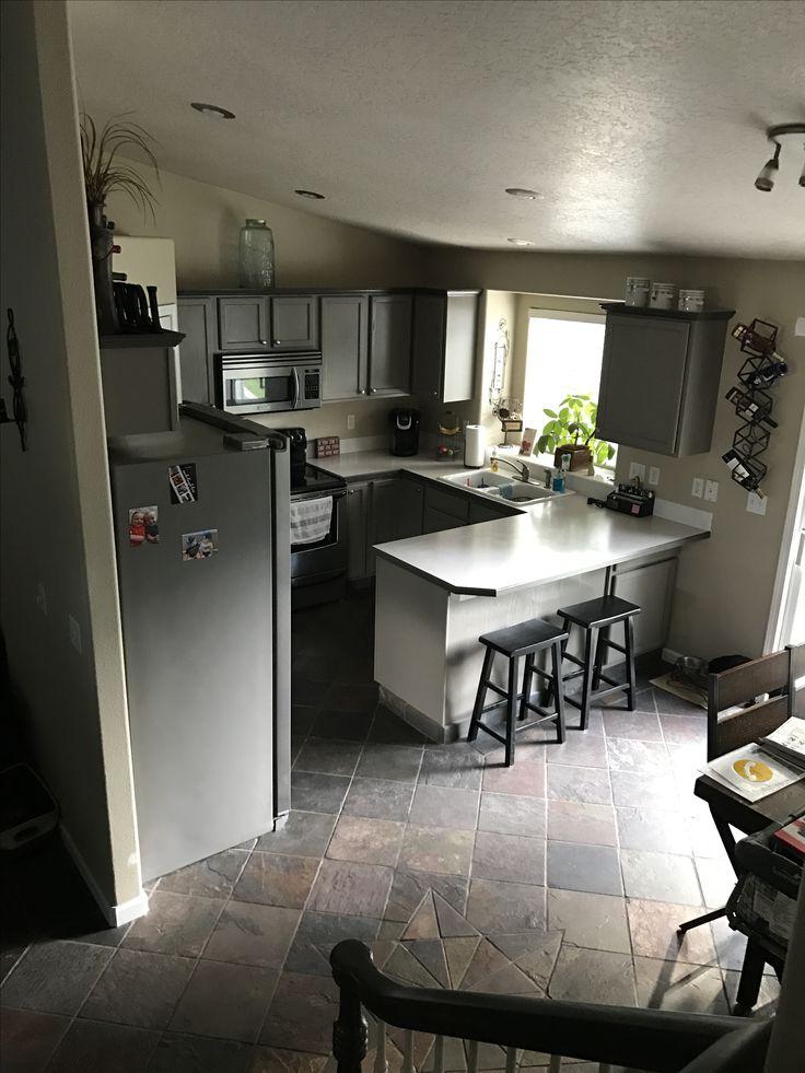Kitchen Cabinets   DIY Valspar Cabinet Enamel