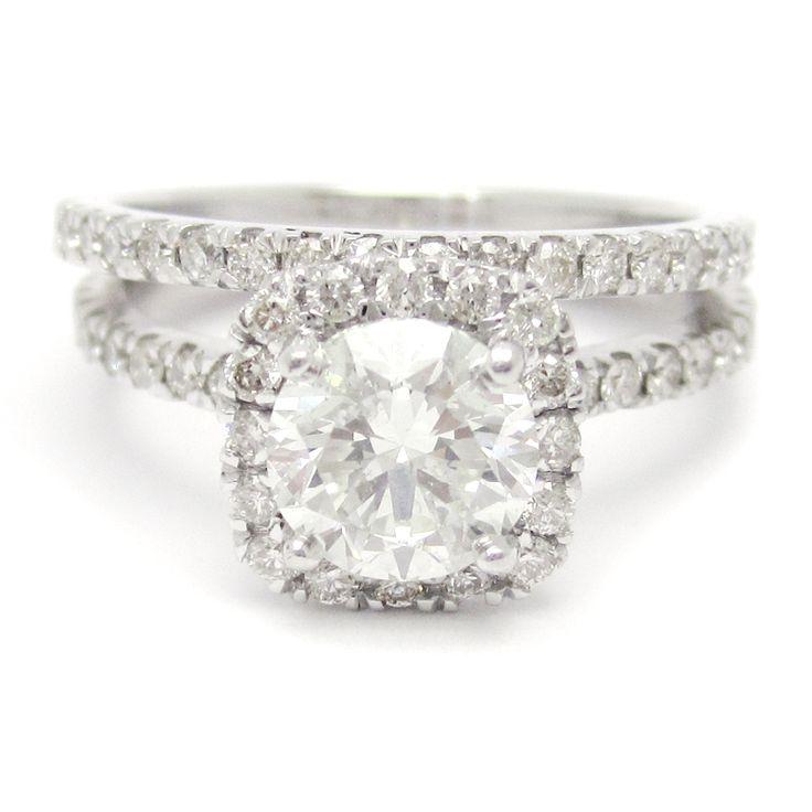 harry winston engagement rings | ... Harry Winston Inspired Diamond Engagement Ring & Wedding Band R135S