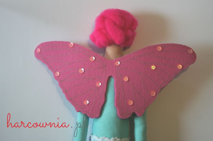 Tilda type fairy with shiny wings