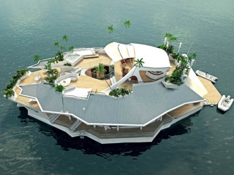 Designed By An Austrian Company The Osros Floating Island Includes Six  Luxury Double Bedrooms, With Space For 12 Residents And Four Staff Members.  The Boat ...