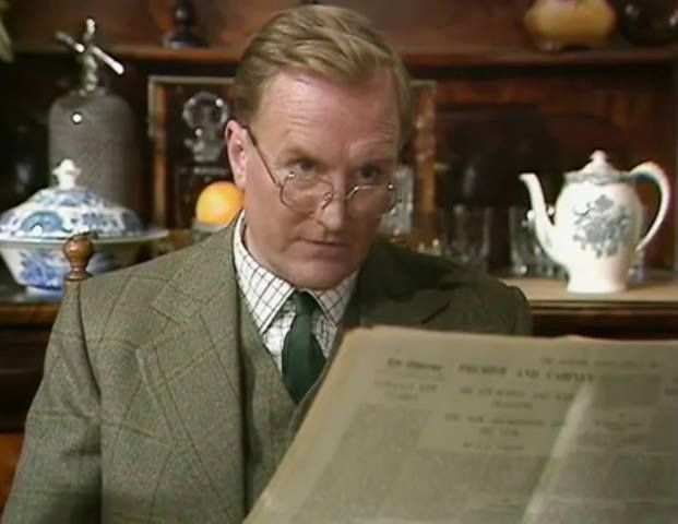 "Robert Hardy as Siegfried Farnum, in ""All Creatures Great and Small""."