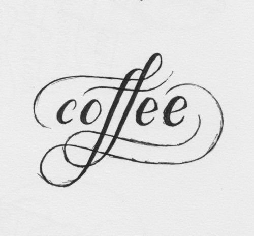 coffee: Scripts, Kitchens Wall, Coffee Typography, Art, Graphics Design, Things, Tattoo, Fonts, Letters
