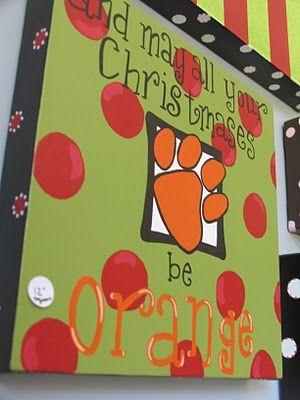 Clemson Christmas: Peanut Paintshop, Crafts Ideas, Christmas Crafts, Christmas Presents, Clemson Christmas, Clemson Tigers, Painting Crafts, Christmas Ideas, Auburn Christmas