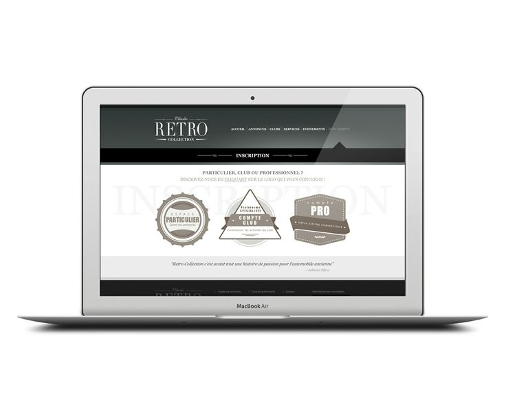 Site internet // Rétro Collection