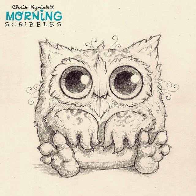 Owloaf loves bread. #morningscribbles | 출처: CHRIS RYNIAK
