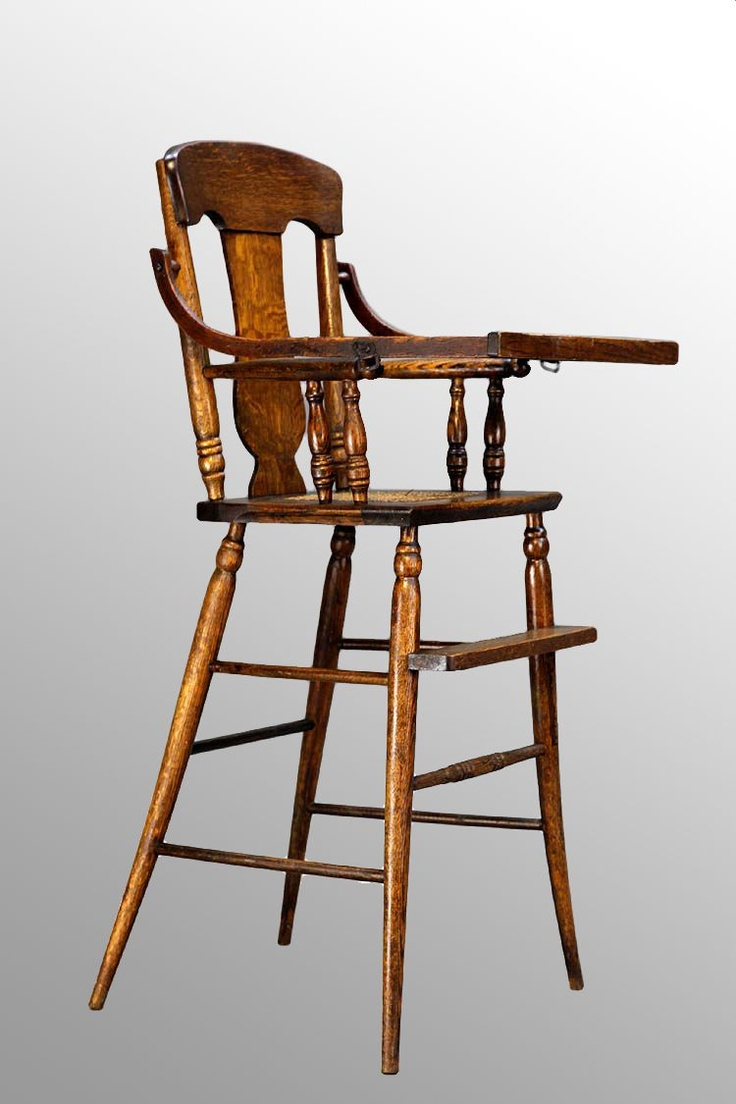 10 best images about antique high chairs on pinterest for Antique high chairs
