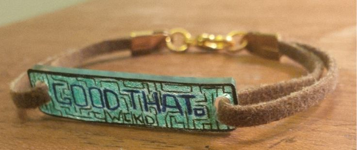 The Maze Runner Good That bracelet! :) https://www.etsy.com/ca/listing/204977920/the-maze-runner-good-that-bracelet?ref=sr_gallery_2&ga_search_query=the+maze+runner+bracelet&ga_search_type=all&ga_view_type=gallery