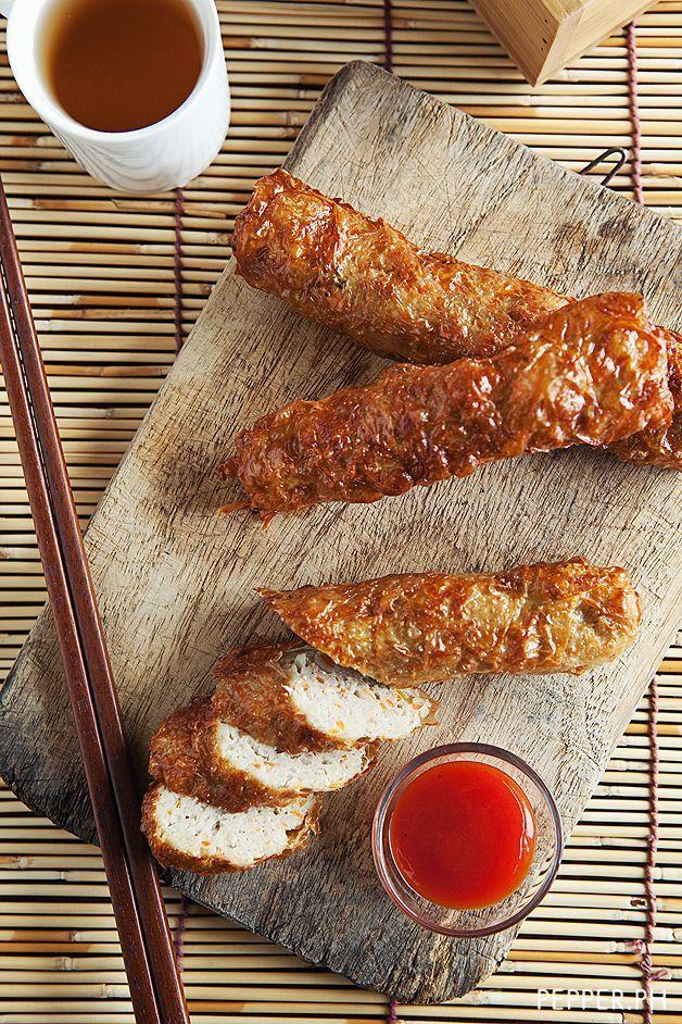 homemade Kikiam ~ deep fried vegetable pork sticks