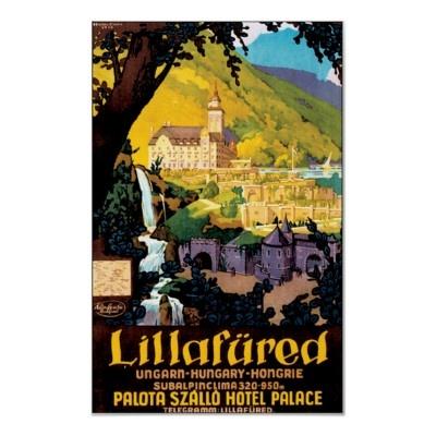 Vintage Lillafured Hungary Travel Poster Art
