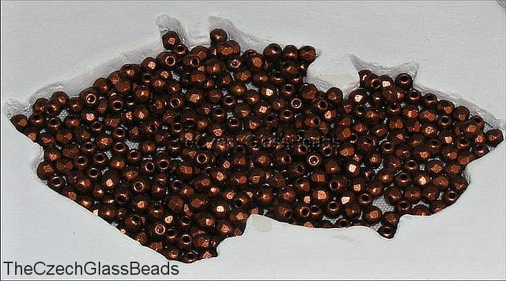 10g CZECH FIREPOLISHED BEADS 3mm 28980/01750 154. by TheCzechGlassBeads on Etsy