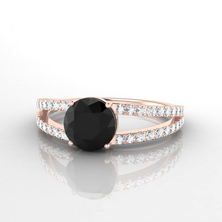 Très Les 25 meilleures idées de la catégorie Bagues en diamant noir sur  IW39