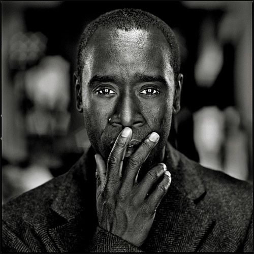 Don Cheadle ... the expressiveness in his eyes... that look is just amazing.