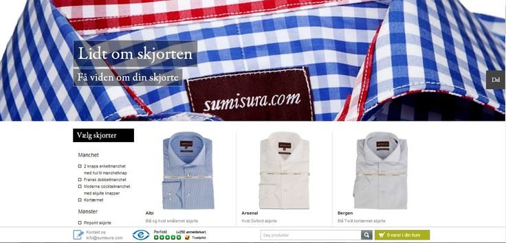 Online clothing store #Sumisura  is functional, elegant and full of interesting info. www.zoomdigital.dk