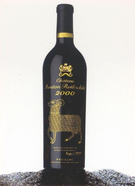 Mouton Rothschild bouteille 2000 Le bélier d'AUGSBOURG