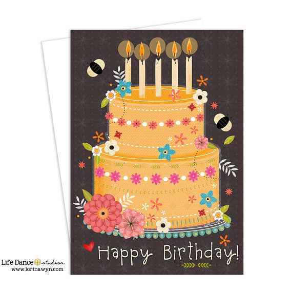 Birthday for Women, Inspirational Art, Birthday, Floral, Women, Art for Women #birthdaycard #greetingcard #lorinawyn