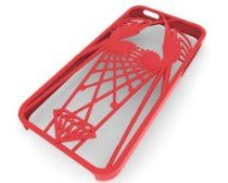 Wings iPhone 5 case by unellenu, featuring stylized wings with a criss-cross design with a diamond motif at the center of the base. This product is provided to you by 3DLT. When you buy a product from us you are not buying one of thousands, you are buying a unique product that has been specifically produced just for you. All of our products are crafted with groundbreaking 3D printing technology.