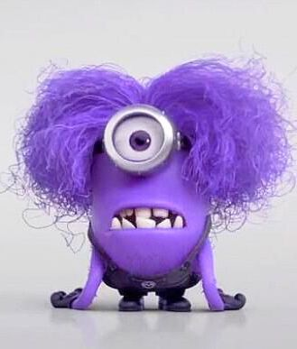 ...evil minion...me every Monday morning...  Another great eye idea for my halloween costume!