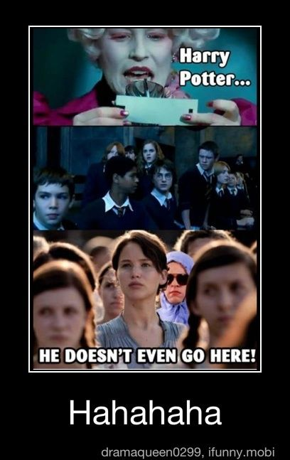 mean girls..hunger games.. harry potter.. all in one