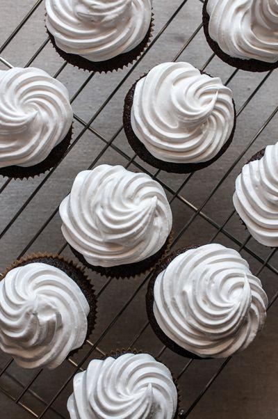 Toasted Marshmallow Chocolate Stout Cupcakes