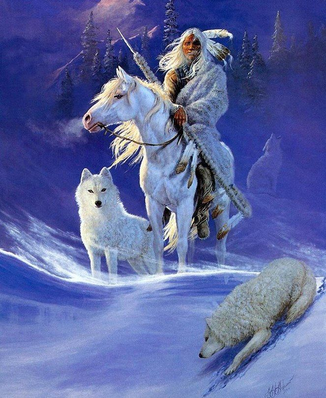 and the white wolf was his guide...