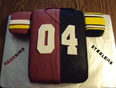 Steelers Redskins Cake By susanscakecreations on CakeCentral.com