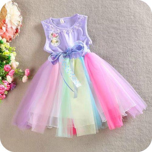Purplicious Purple Rainbow Tulle Dress
