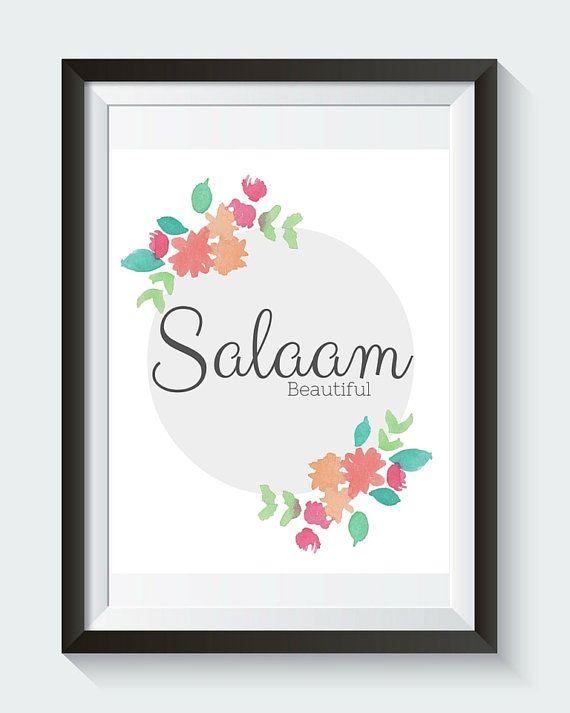 Salaam Beautiful Instant Digital Download Islamic by SnowpeaDesign