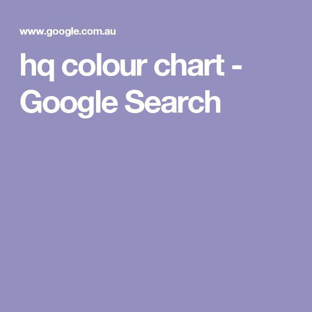 hq colour chart - Google Search