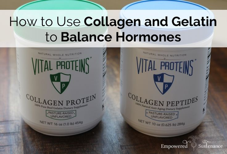 Collagen Hydrolysate And Gelatin Provide A Uniquely