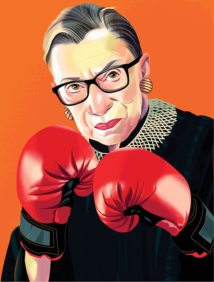 Notorious, Ruth Bader Ginsburg print by Nigel Buchannan