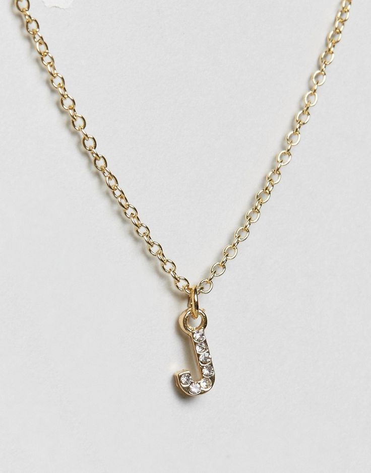 Johnny Loves Rosie J Initial Necklace - Gold
