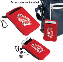B461RD: The Active Sports Pouch  Protect and access your valuables with ease  Neoprene mobile phone holder and wallet  Fits most mobile phones up to 5 inches  Zippered back pocket for valuables  Key ring and carabiner provide ultimate accessibility to your valuables.  Ideal for cycling, recreation and travel  Available in Black, Blue and Red
