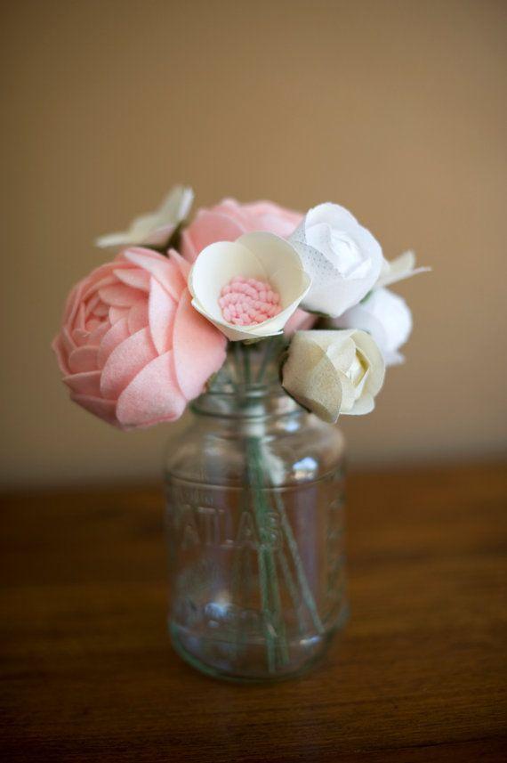 Fabric flowers - handmade & custom arrangement for home decor, Wedding decor, anniversaries