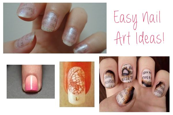 Easy Nail Art Ideas You Could Do At Home - http://heeyfashion.com/2015/05/easy-nail-art-ideas-you-could-do-at-home/