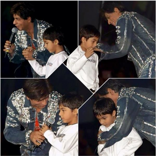 SRK and Aryan.