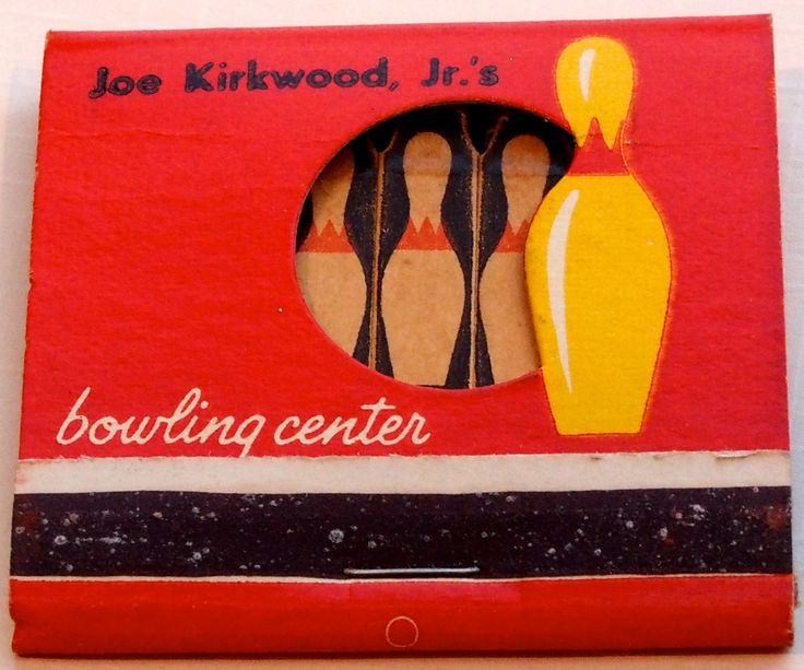 Joe Kirkwood Jr.'s Bowling Center #feature #frontstriker #matchbook - To order your business' own branded #matchbooks or #matchboxes GoTo: www.GetMatches.com or CALL 800.605.7331 to get the process started TODAY!