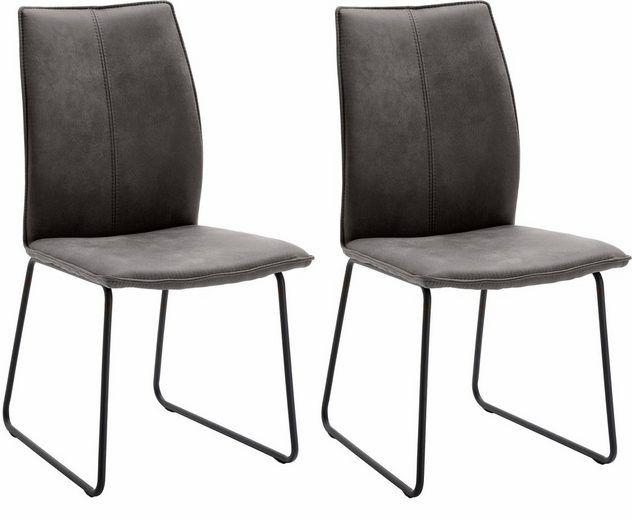 NIEHOFF SITZMÖBEL Design Stuhl »Capri« (2er Set) mit Kufengestell, in Leder oder Mikrofaser