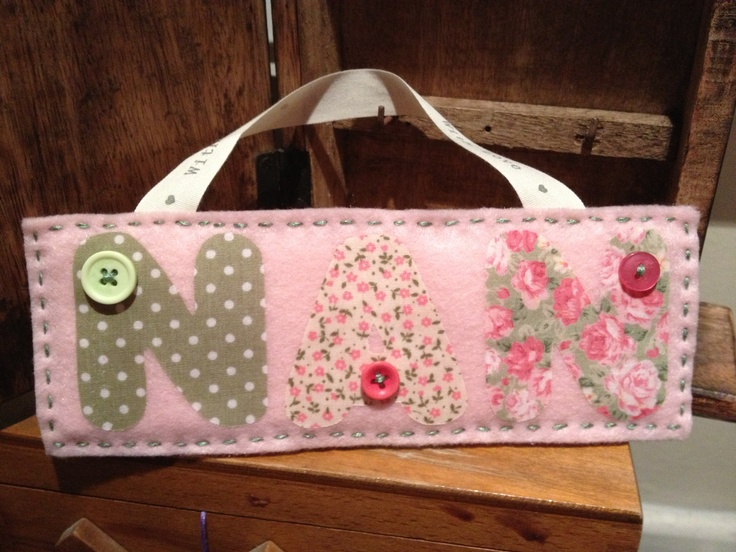 Hand made personalised hanger