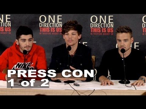 One Direction: This is Us: Zayn Malik, Louis Tomlinson & Liam Payne Press Conference Part 1 of 2 these are all kinda awkward but I love them