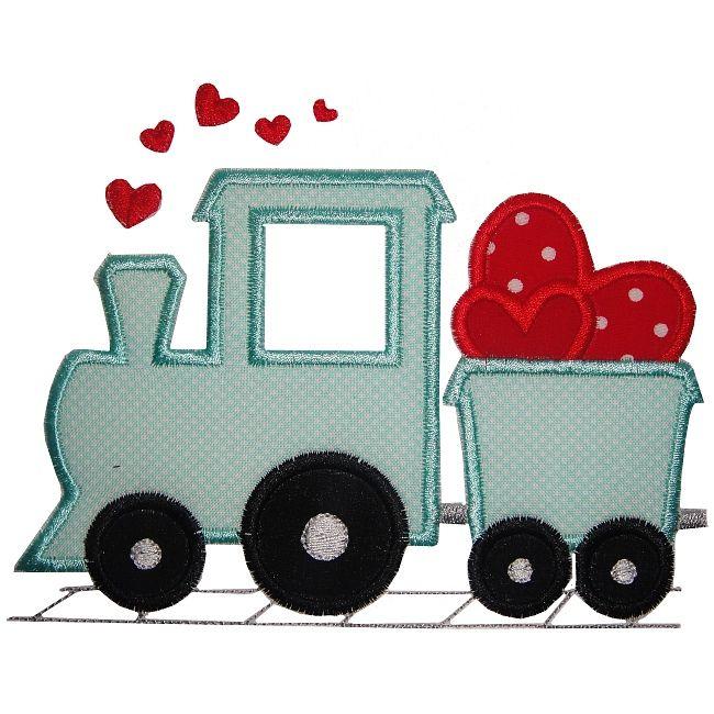 valentine train applique cliparts trains pinterest appliqu couture enfant et livres en tissu. Black Bedroom Furniture Sets. Home Design Ideas