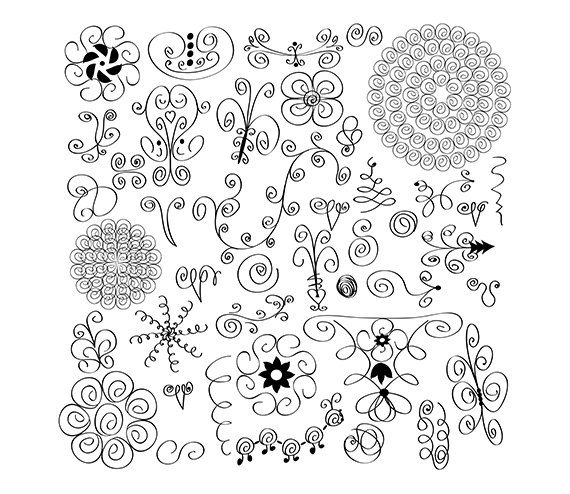 42 Swirl Doodles Images- Digital Clipart - PNG - JPG - Vector - Hand Drawn - Limited Commercial Use - Instant Download - Digital Stamp on Etsy, $2.00