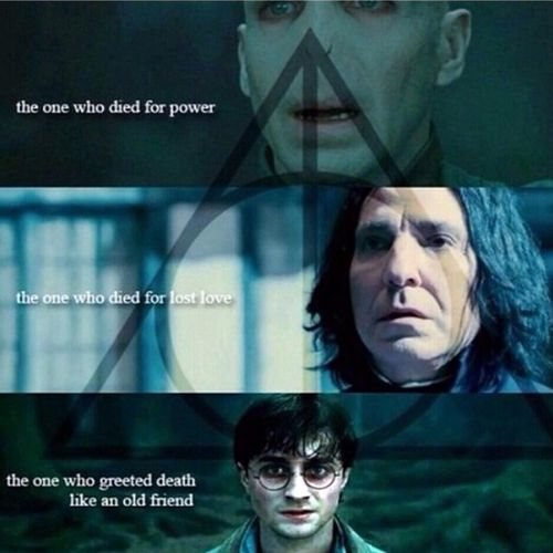 Together they are the deathly hallows