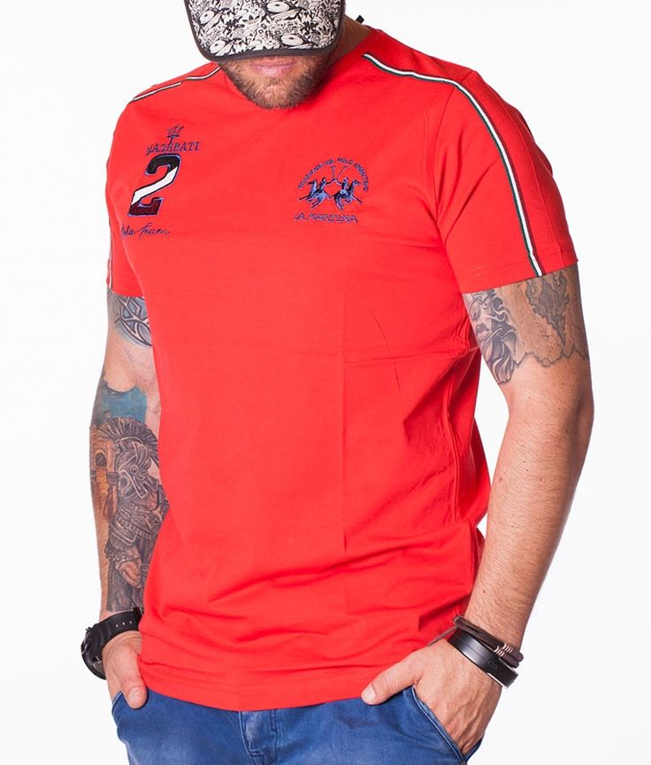 La Martina Camisetas cuello redondo - Maserati Polo Team 2 Camiseta Rojo