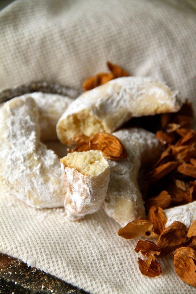 Vanillekipferl. Austrian almond and vanilla crescents.